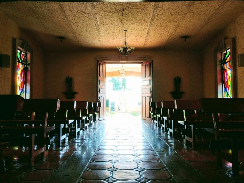 church, light, wait, door, chapel, open