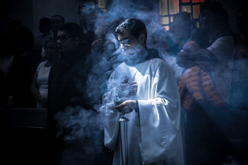 smoke, , benedictines, incense, prayer