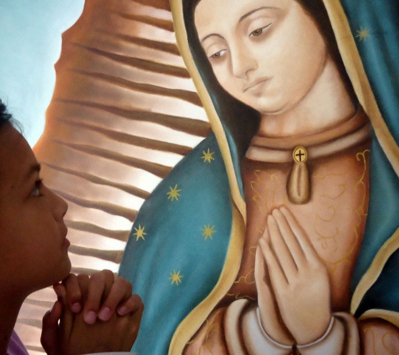 to pray, timetable, advocacion, devotion, guadalupe39s virgin, look, girl, patron of mexico, patroness of america